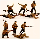 WWII U.S. Infantry - Riflemen - Fully painted