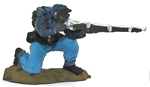 Negro Federal Infantryman - 1863 - fully painted