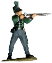 British 95th Rifleman Firing -1812 - fully painted