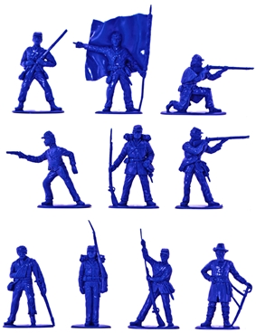 Civil War Union Infantry Set - in rare mid-blue co