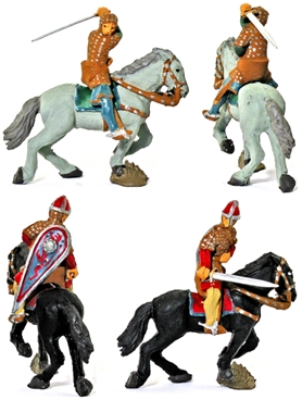 Norman Knights with Swords - Fully painted