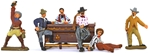 Bar Patrons and Bartender - fully painted