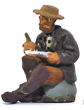 19th Century War Correspondent - fully painted