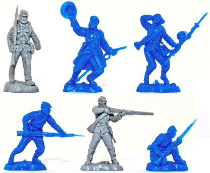 Civil War Veterans set #2 - sky blue color