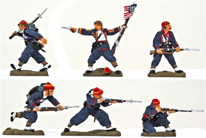 140th NY Zouave Regiment - Fully painted