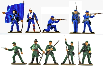 Civil War Union Infantry Set - Basic paint job