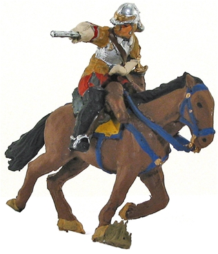 Mounted Roundhead -1645 - Fully painted