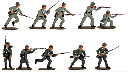 Confederate Infantry Set #2 - Fully Painted