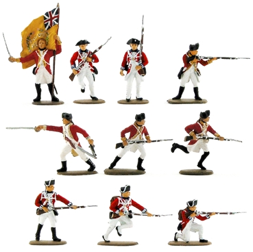 British Infantry - 1776 Set #2 - Fully painted