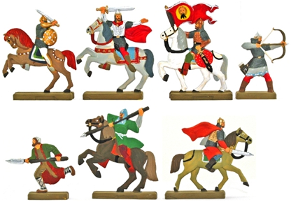 Russian Knights - Fully painted - 1 set left