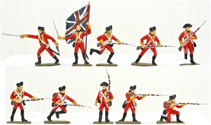 British Infantry - 1776 Set #2 - Basic paint job