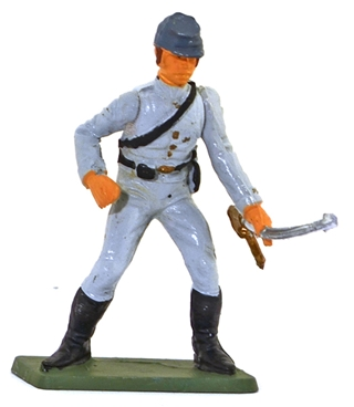 Confederate Infantry - Advancing with Sword
