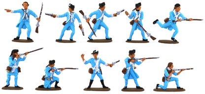 American Colonial Infantry - basic painted figures