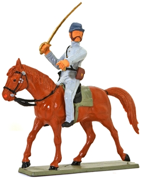 Confederate Cavalry - Brandishing Sword