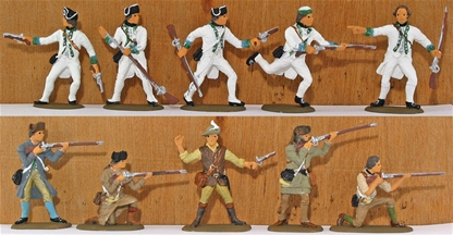 French Canadian Militia and Regulars- full paint