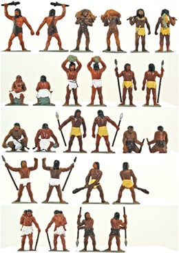 Prehistoric Man - Complete set of 13 figures