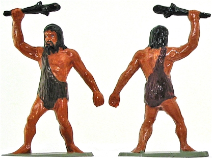 Neanderthal Man attacking with club