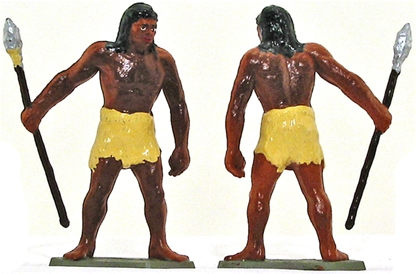 Neanderthal Man advancing with spear