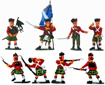 Waterloo Highlanders - painted by Timpo