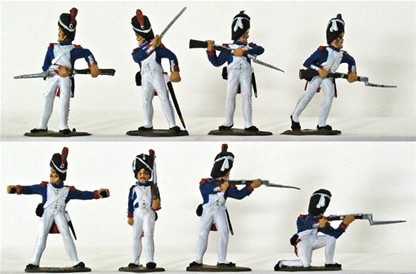 Waterloo French Grenadiers - fully painted