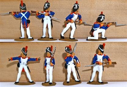 Waterloo French Grenadiers - basic-plus painted