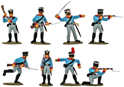 Waterloo Prussian Infantry - Basic plus painted