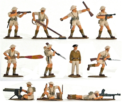WWII British 8th Army - Fully painted