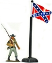Confederate flag with Flagpole and Base