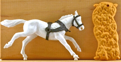 Original Harnessed Wagon Horse - set of 4