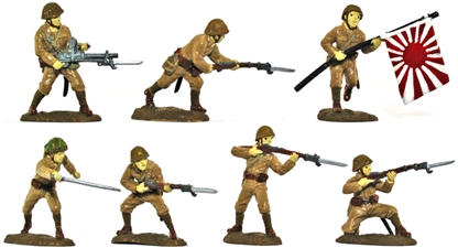 WWII Japanese Infantry - Basic painted version
