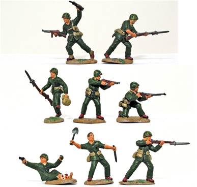 WWII U.S. Marines Pacific - painted by TSSD