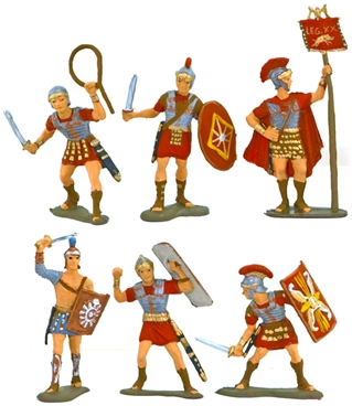 60mm Roman Warriors - fully painted