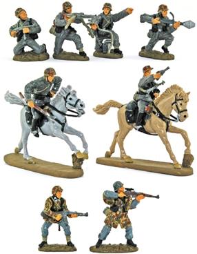 WW II Late War German Infantry - Basic paint