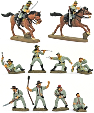 Civil War C.S.A. Cavalry #2 - Full paint