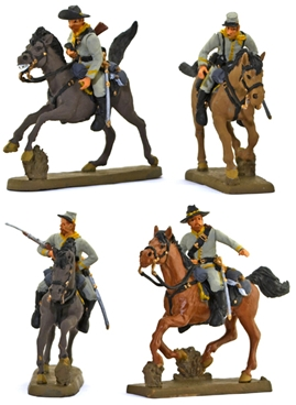 C.S.A. Cavalry #5 - Riders in Column full paint