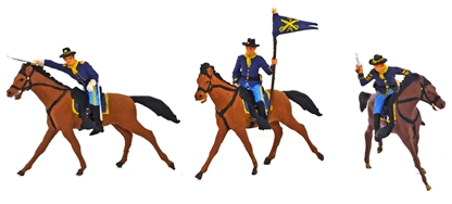 U.S. 7th Cavalry with Horses - fully painted