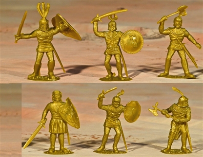 Gold Foot Knights - set of 10