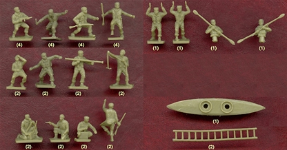 WWII British Commandos - original Airfix packaging