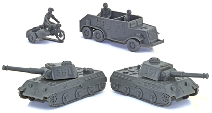 WWII German Armor - gray color matched