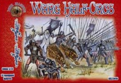 Mounted Orcs on Wargs in ligt armor