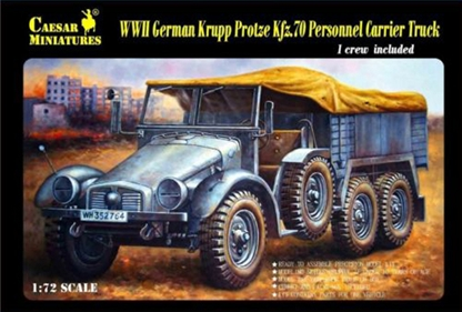 WWII German Personnel Carrier Truck with Crew