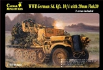 WWII German Halftrack with Gun & 3 Crew