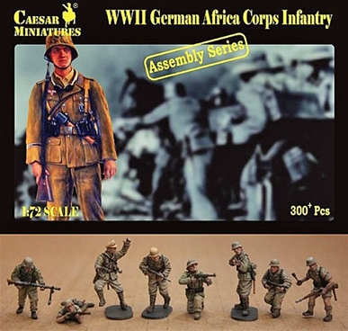 WWII German Africa Corps Infantry  - figure kit