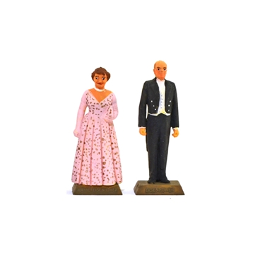 Dwight and Mamie Eisenhower - fully painted